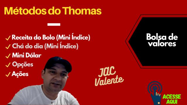 Método Thomas Mini Indice, Mini dolar, chá do dia, opções, ações